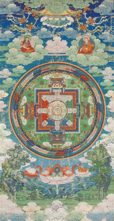 A thangka of Vajramrita mandal