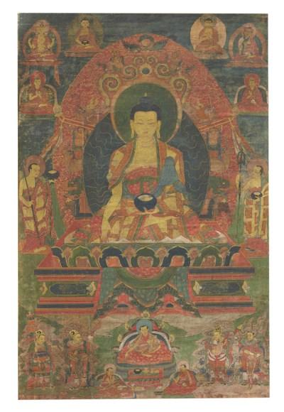 A thangka of the Medicine Budd