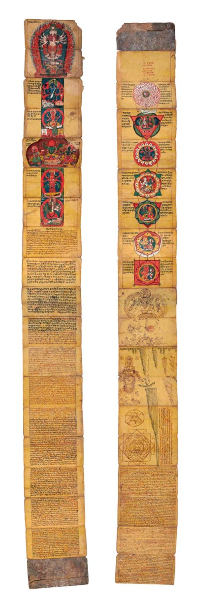 A folding iconographic manual