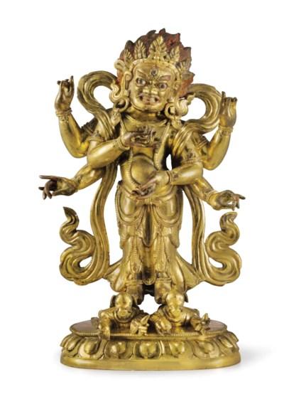 A gilt bronze figure of White
