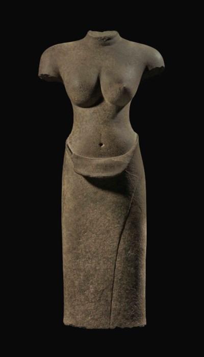 A buff sandstone torso of Uma