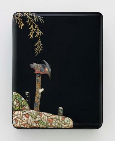 A lacquer writing box (suzurib