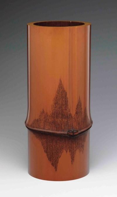 A large lacquer flower vase (h