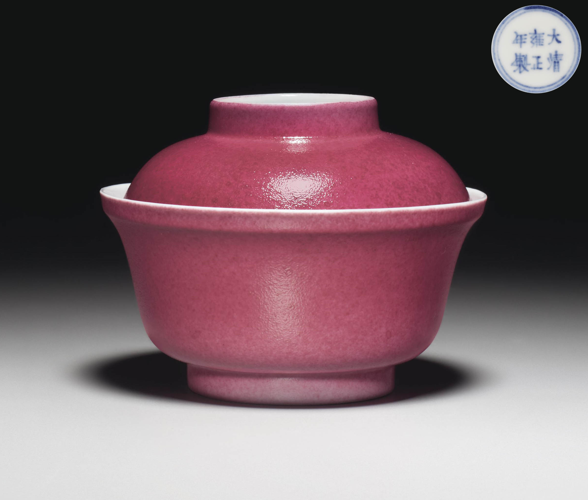 AN ANHUA-DECORATED RUBY-ENAMEL