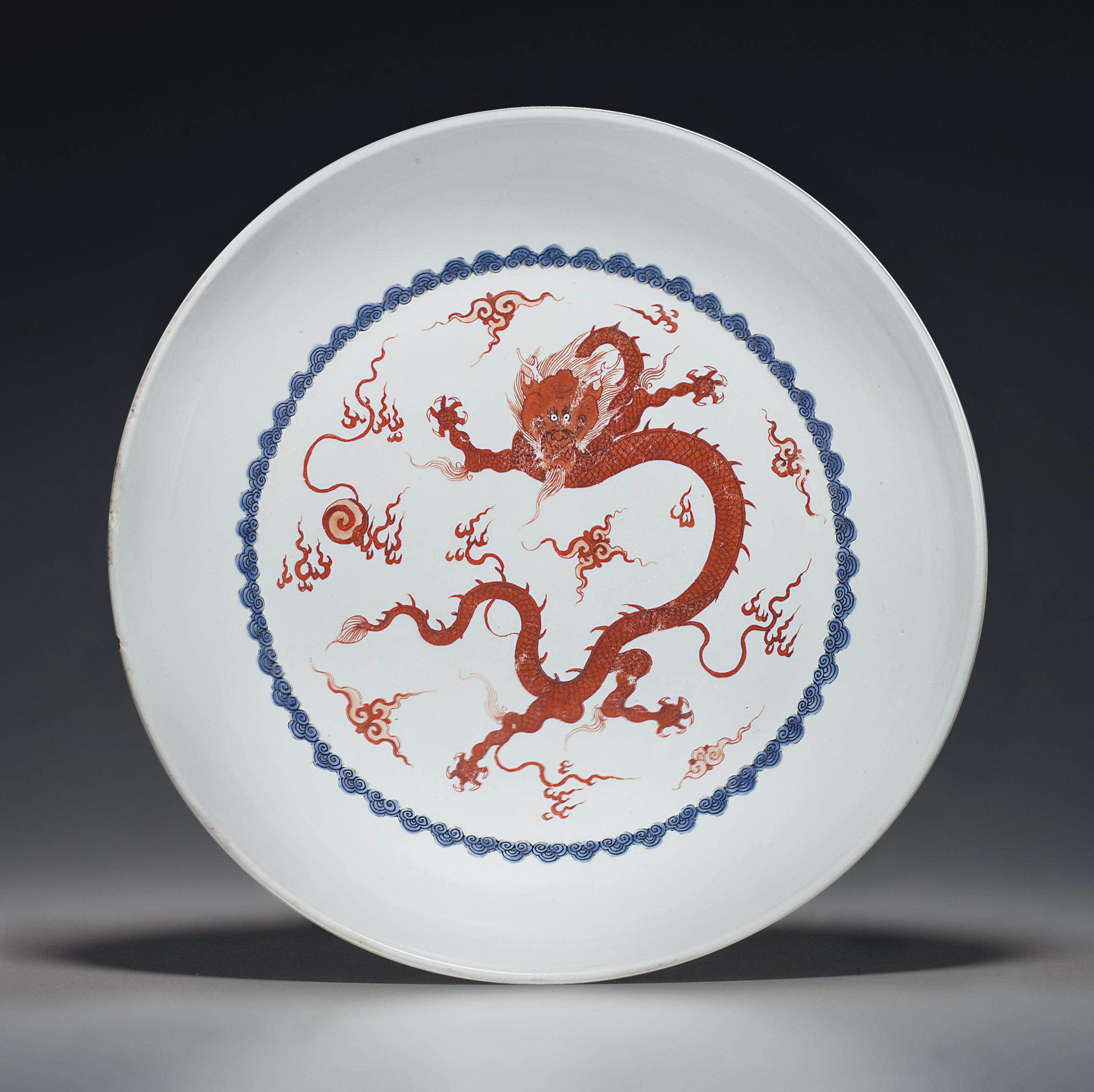 AN IRON-RED-DECORATED 'DRAGON'