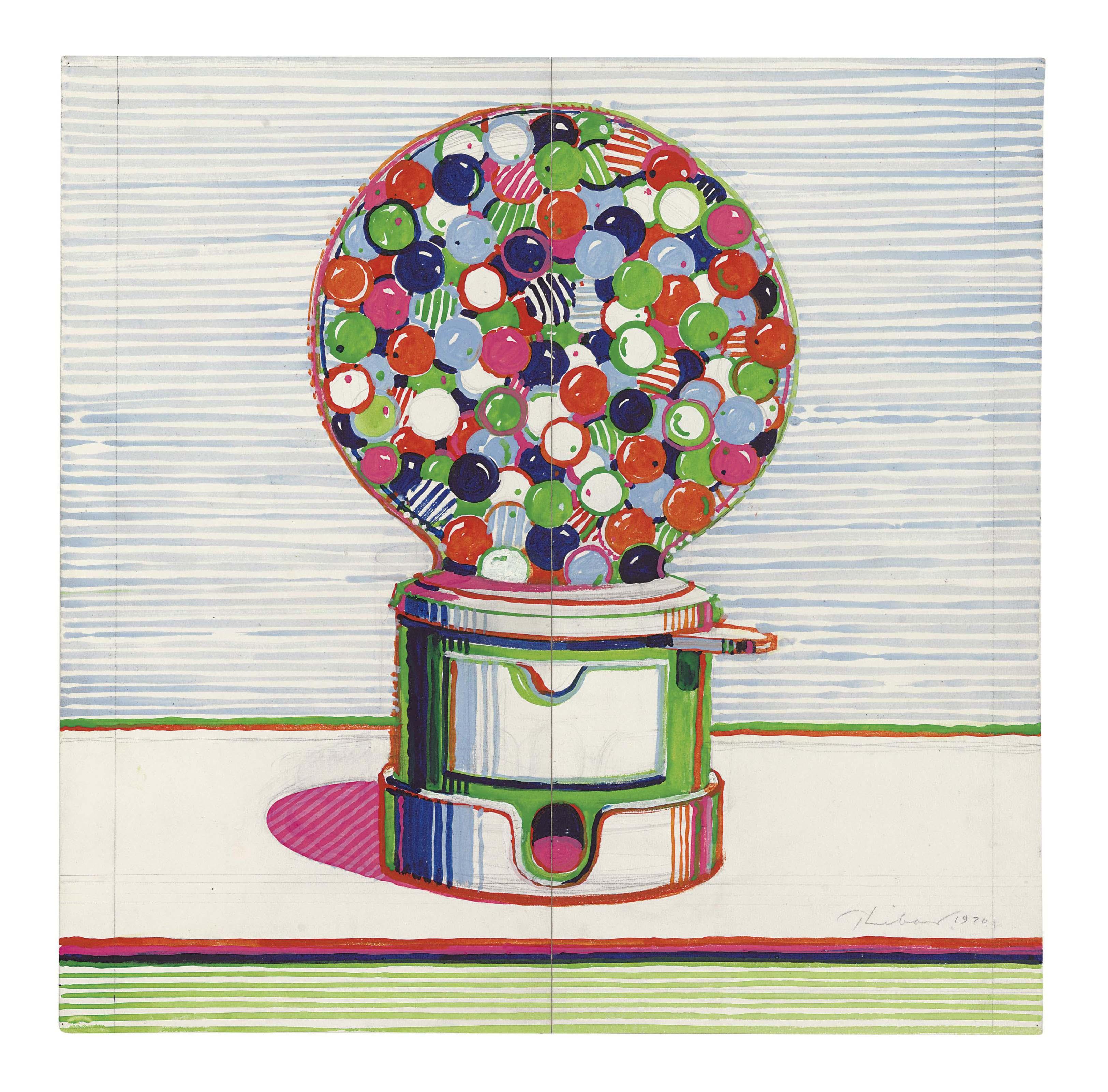Pop Art Gumball Machine Painting