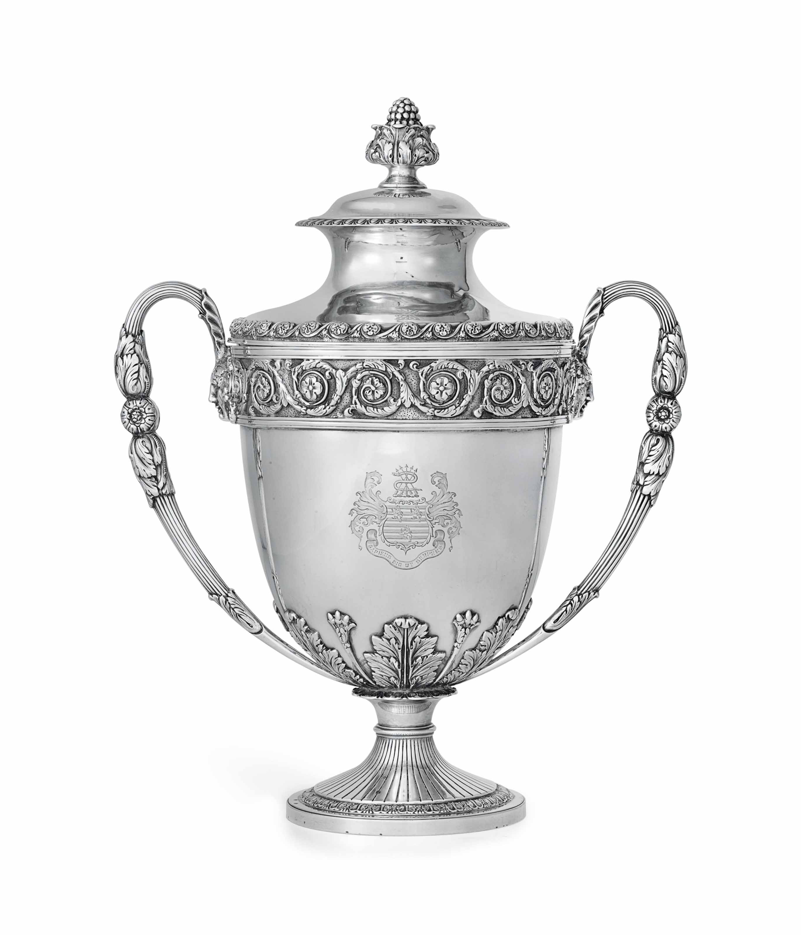 A GEORGE V SILVER CUP AND COVER