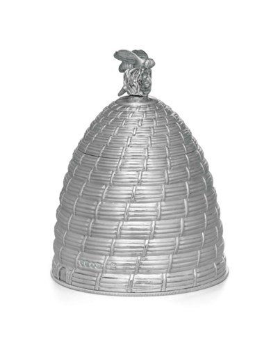 A GEORGE IV SILVER HONEY POT