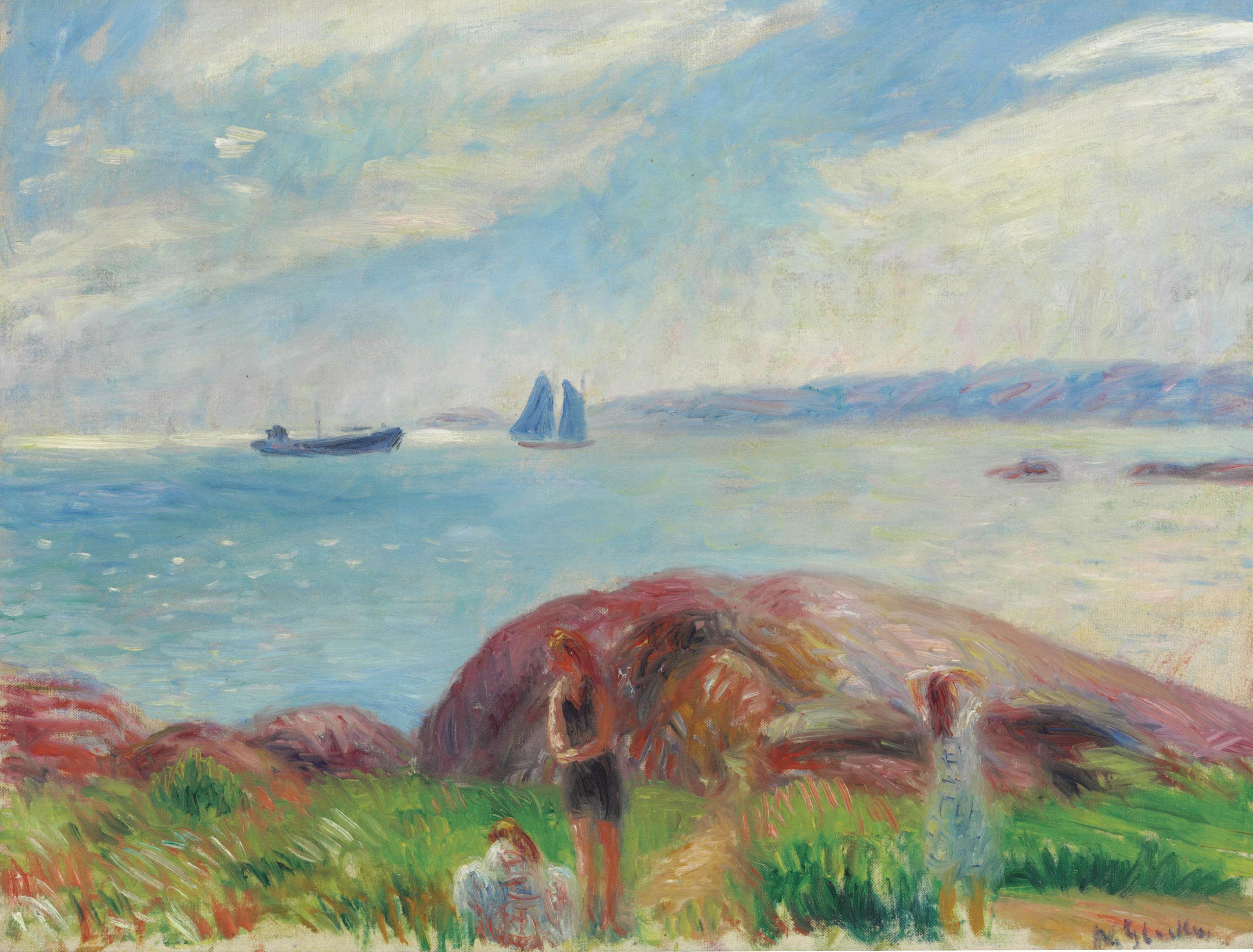 Bathing Near the Bay