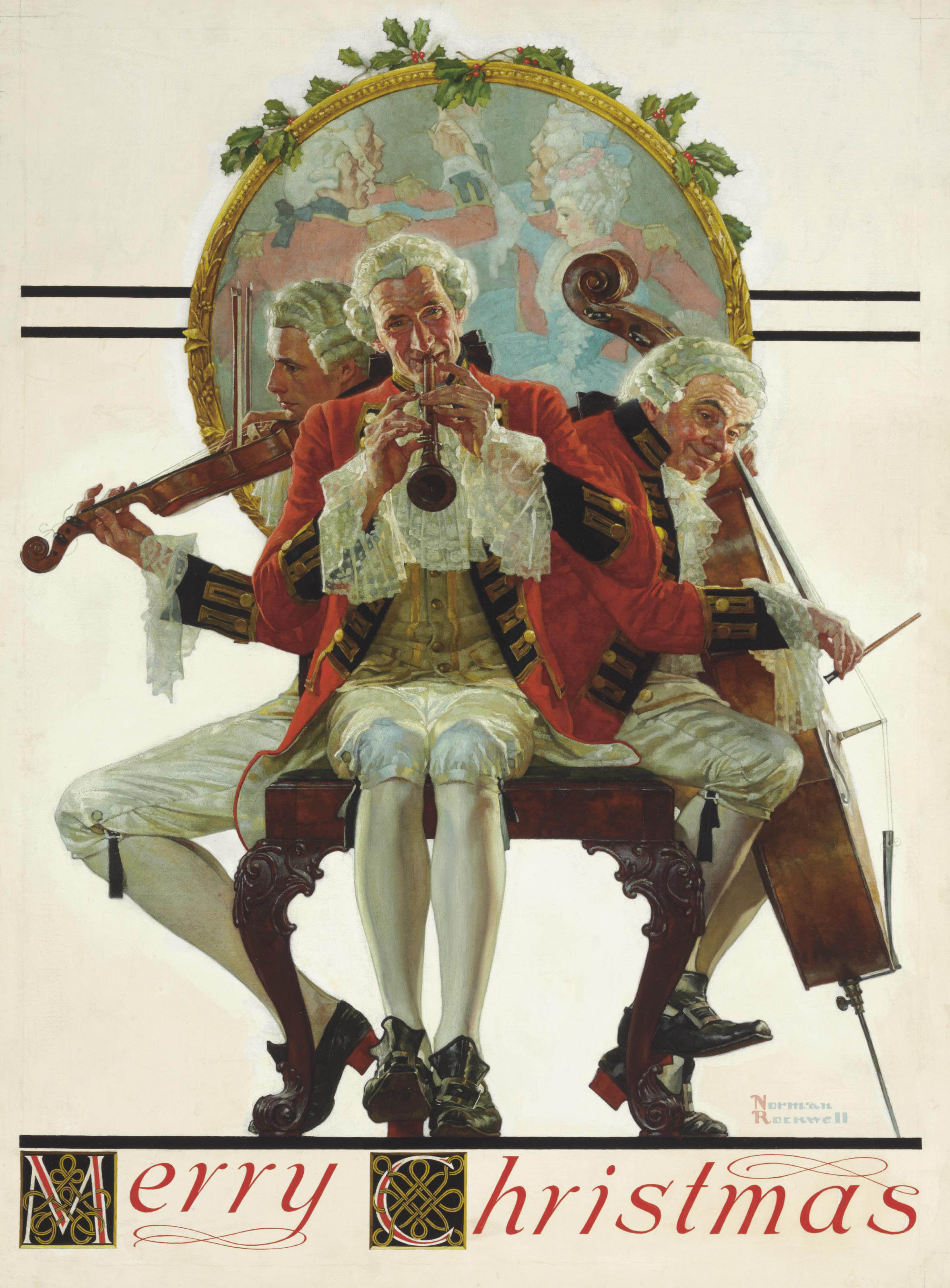 Norman Rockwell (1894-1978) | Merry Christmas: Concert Trio | 20th ...