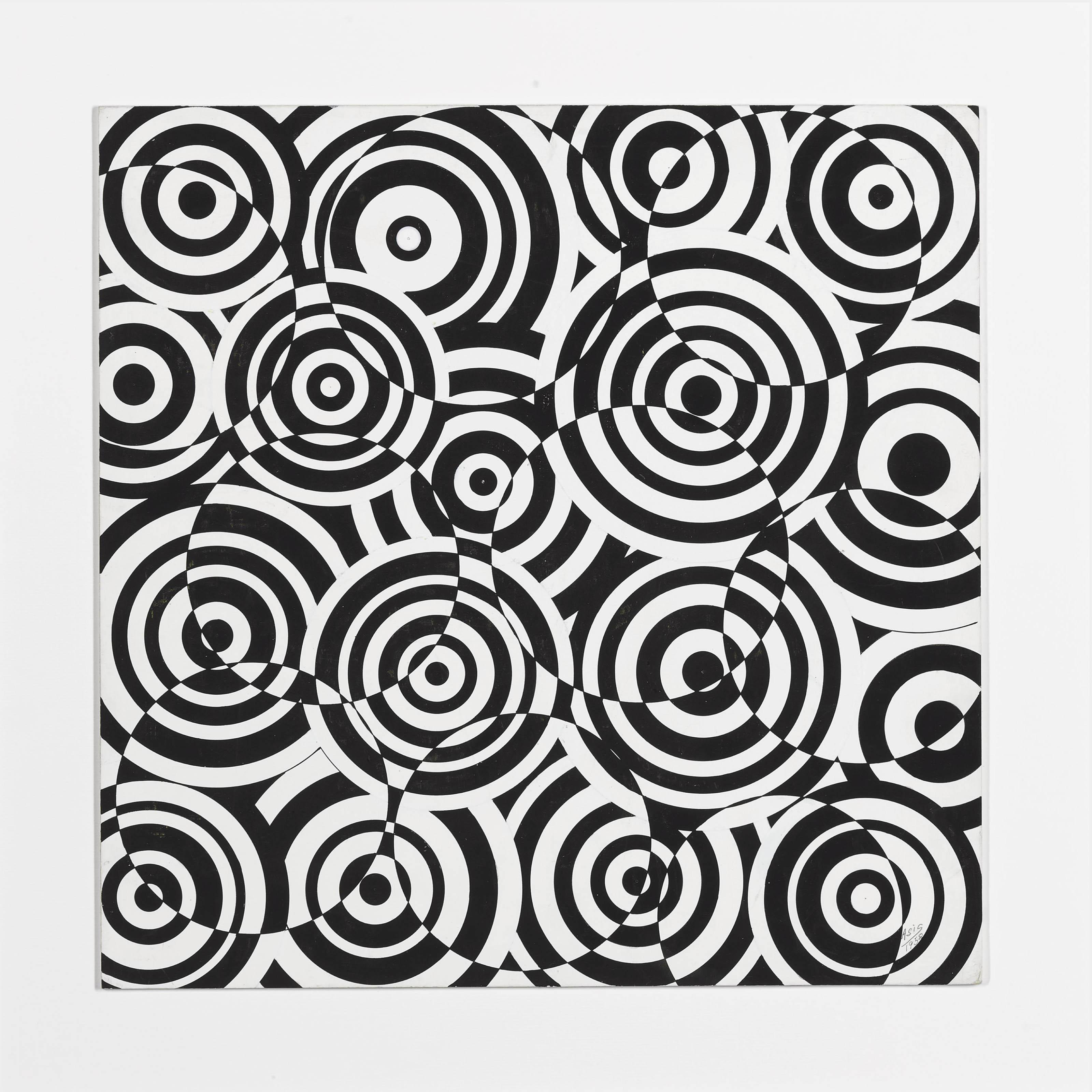 Interférences en noir et blanc