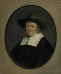 Portrait of a gentleman, half-length, in a painted oval