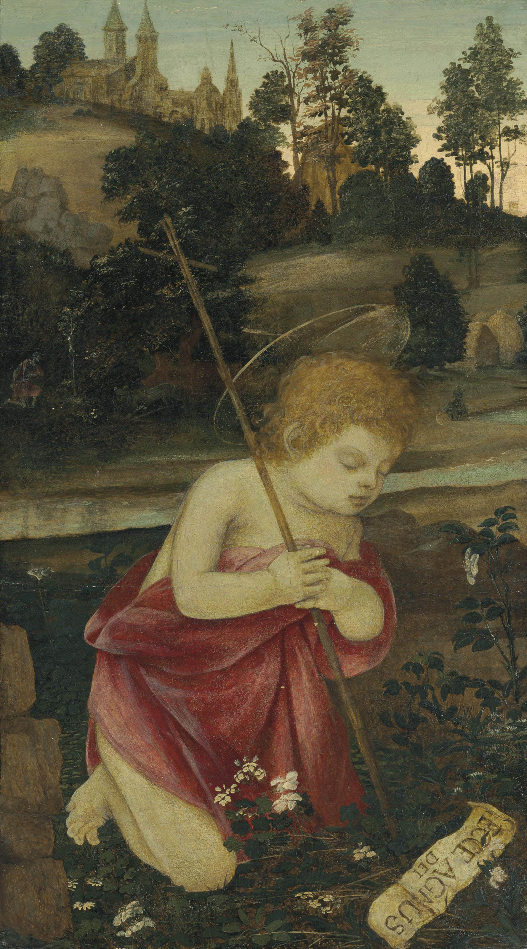 The Young Saint John the Baptist praying in a landscape