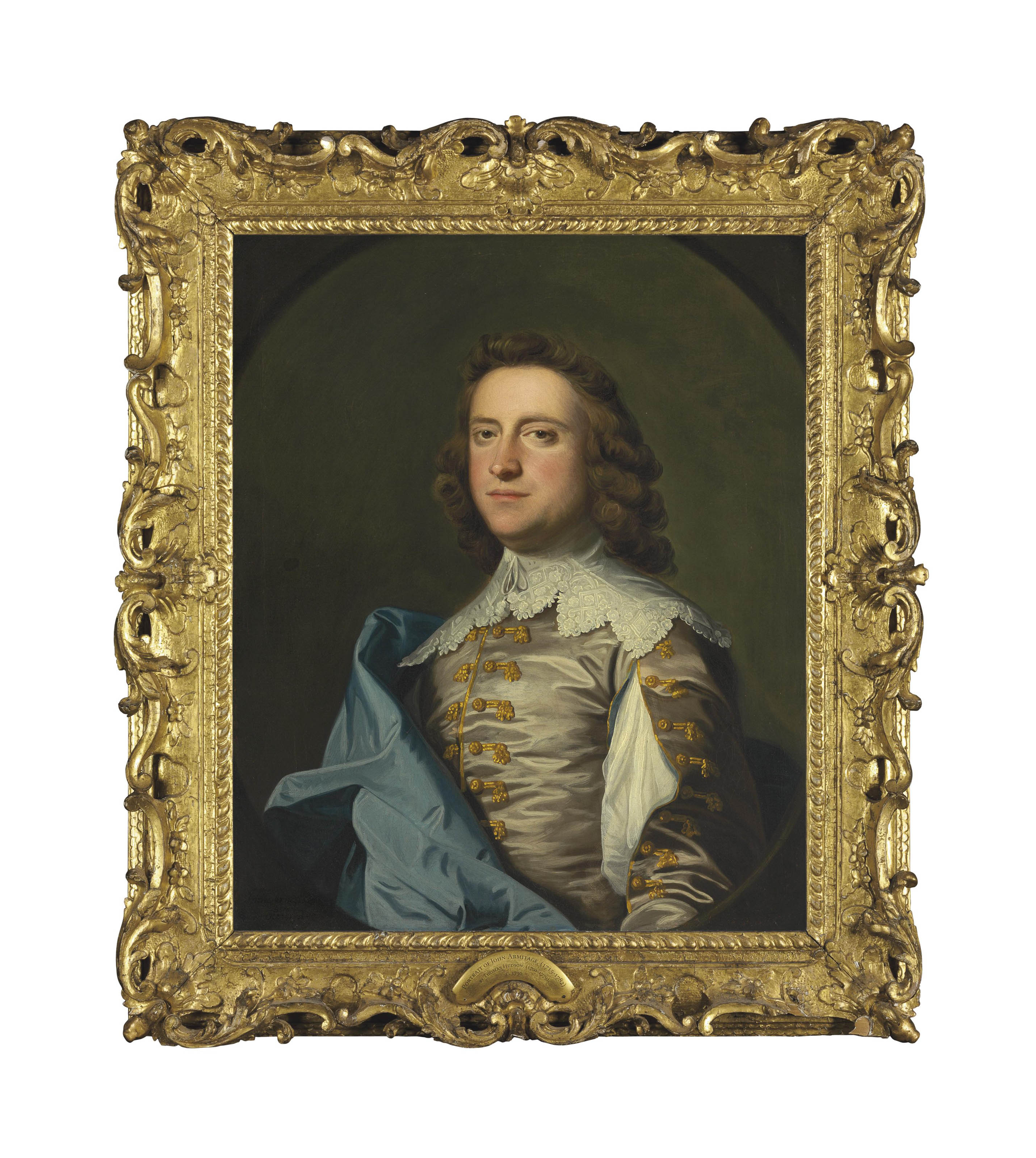 Portrait of John Armytage Esq., half-length, in Van Dyck costume, in a feigned oval
