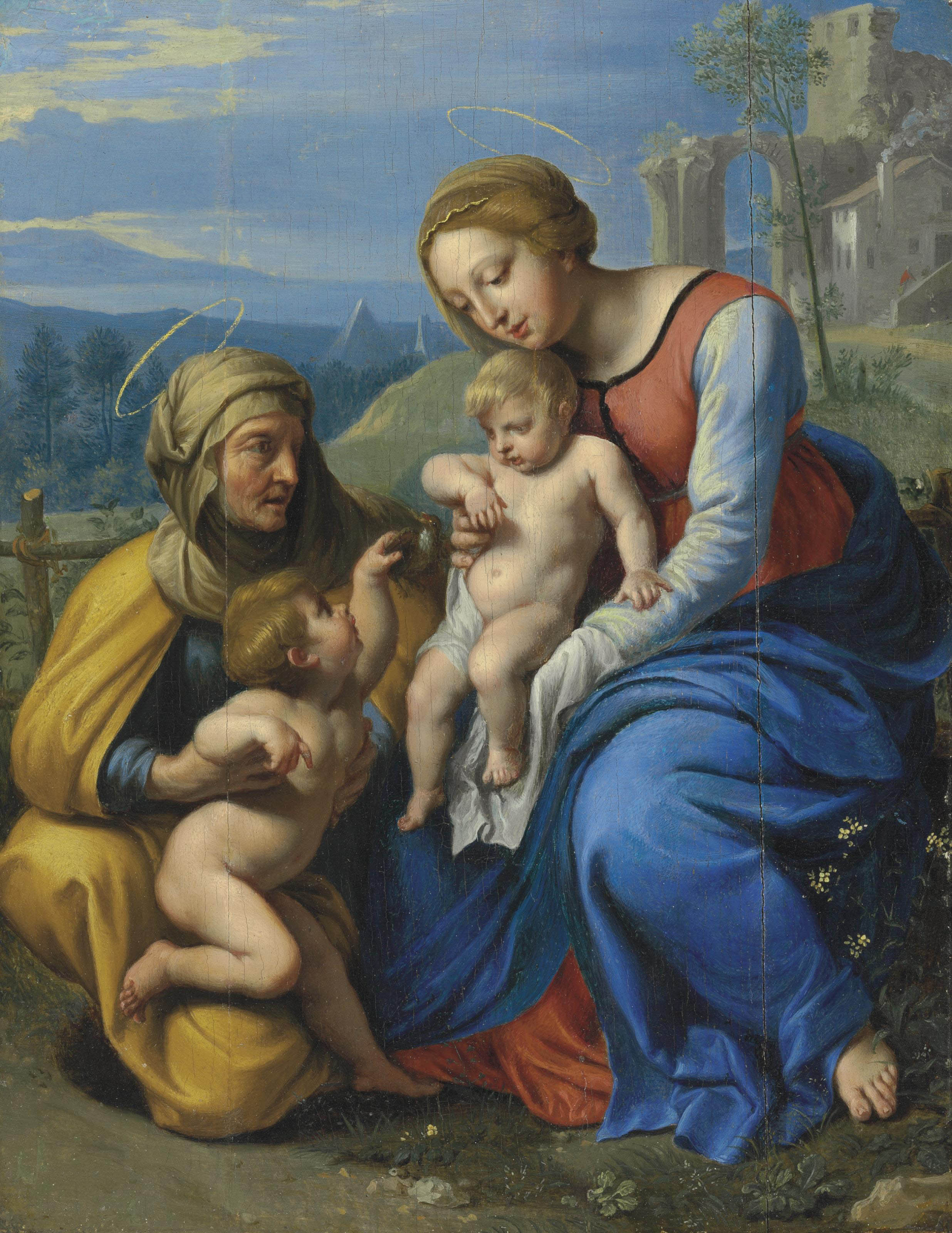 The Holy Family with a Sparrow