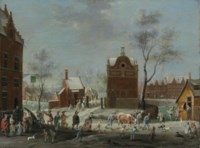 A winter carnival in a small Flemish town