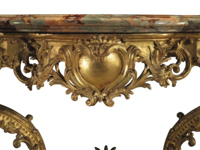 A REGENCE GILTWOOD CONSOLE