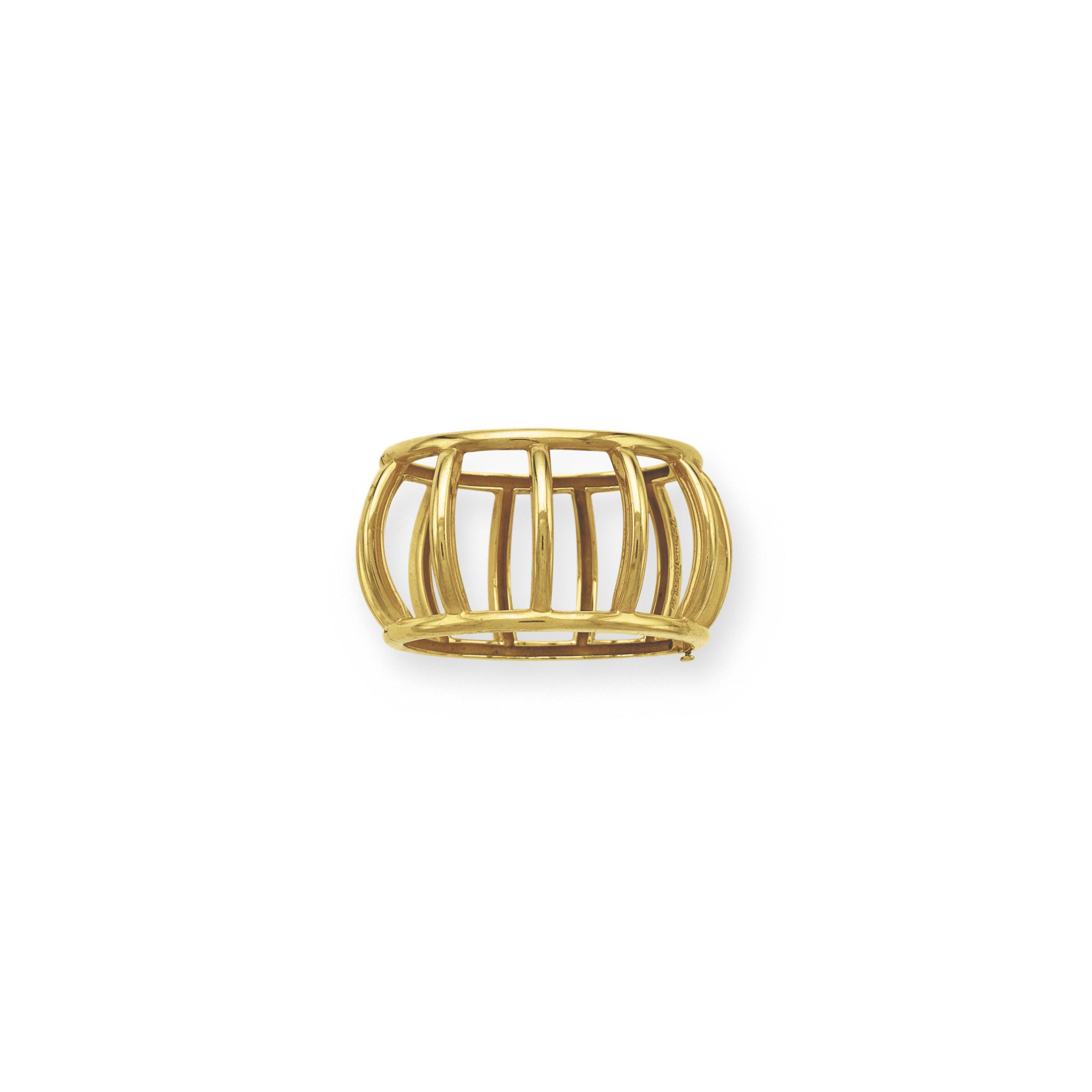 A GOLD BANGLE BRACELET, BY PALOMA PICASSO, TIFFANY & CO.