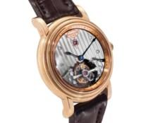 Parmigiani.  A Large 18k Pink Gold Tourbillon Wristwatch