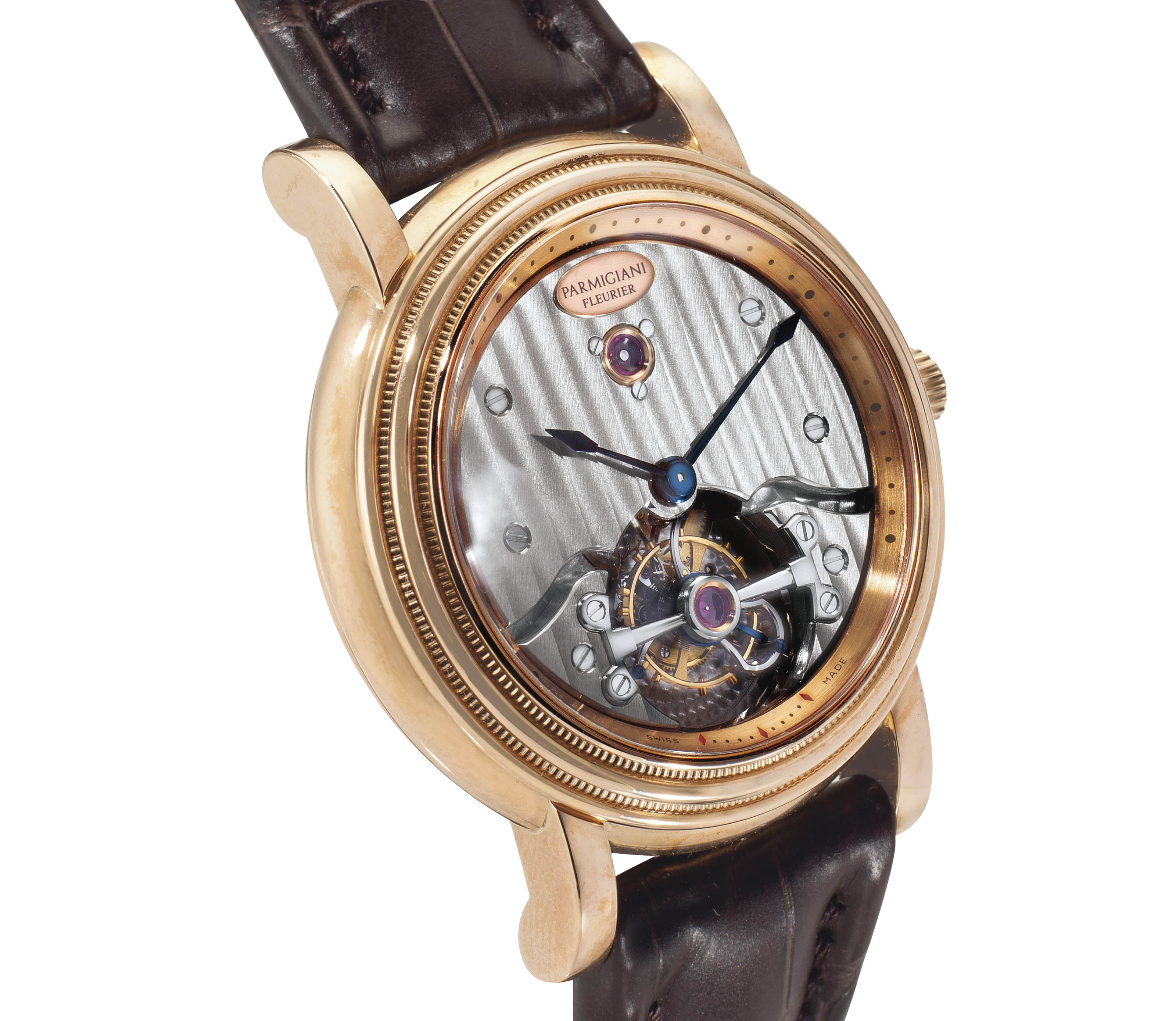 Parmigiani.  A Large 18k Pink Gold Tourbillon Wristwatch