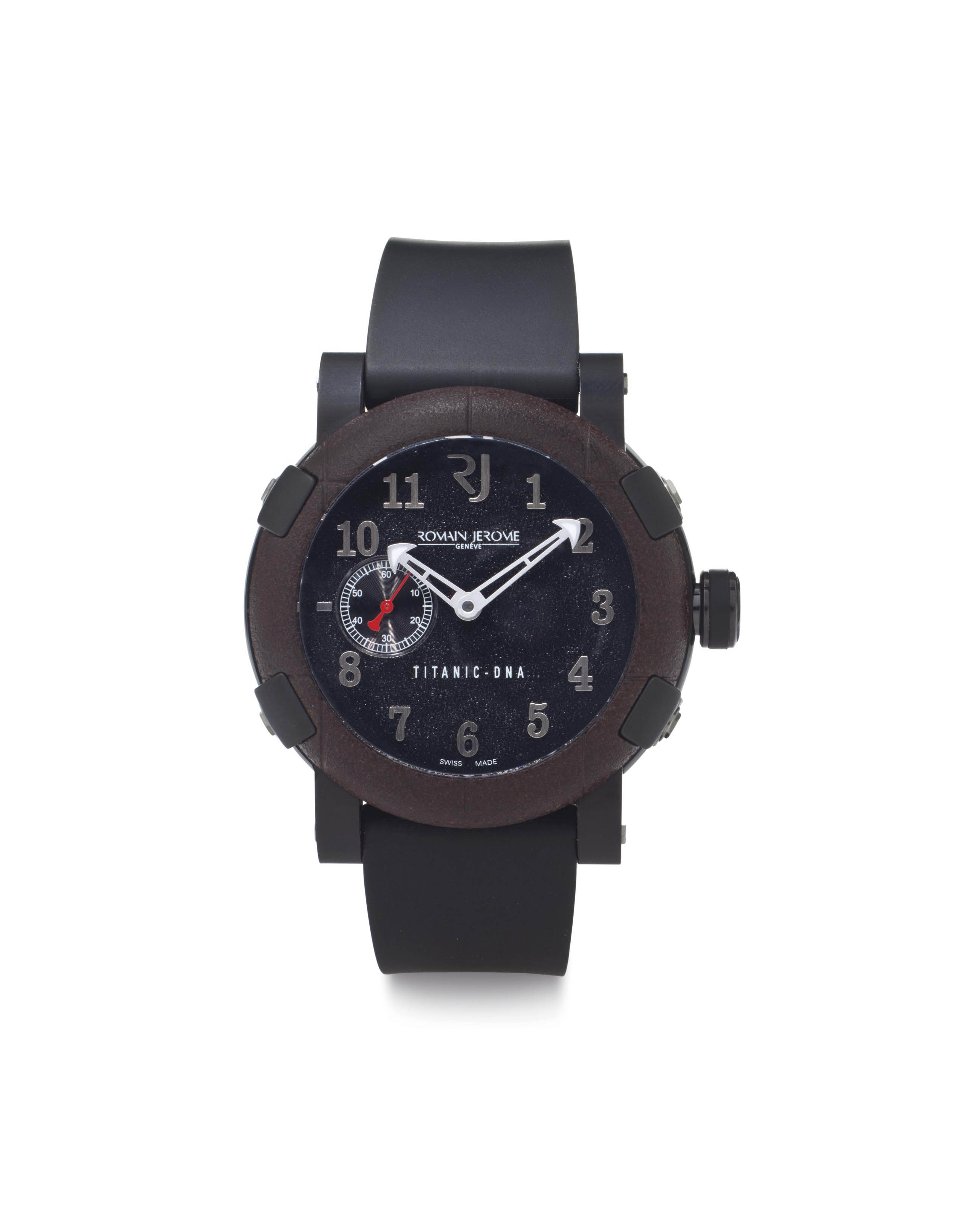 Romain Jerome. A Limited Edition Titanic DNA Black Oxidized Steel Wristwatch