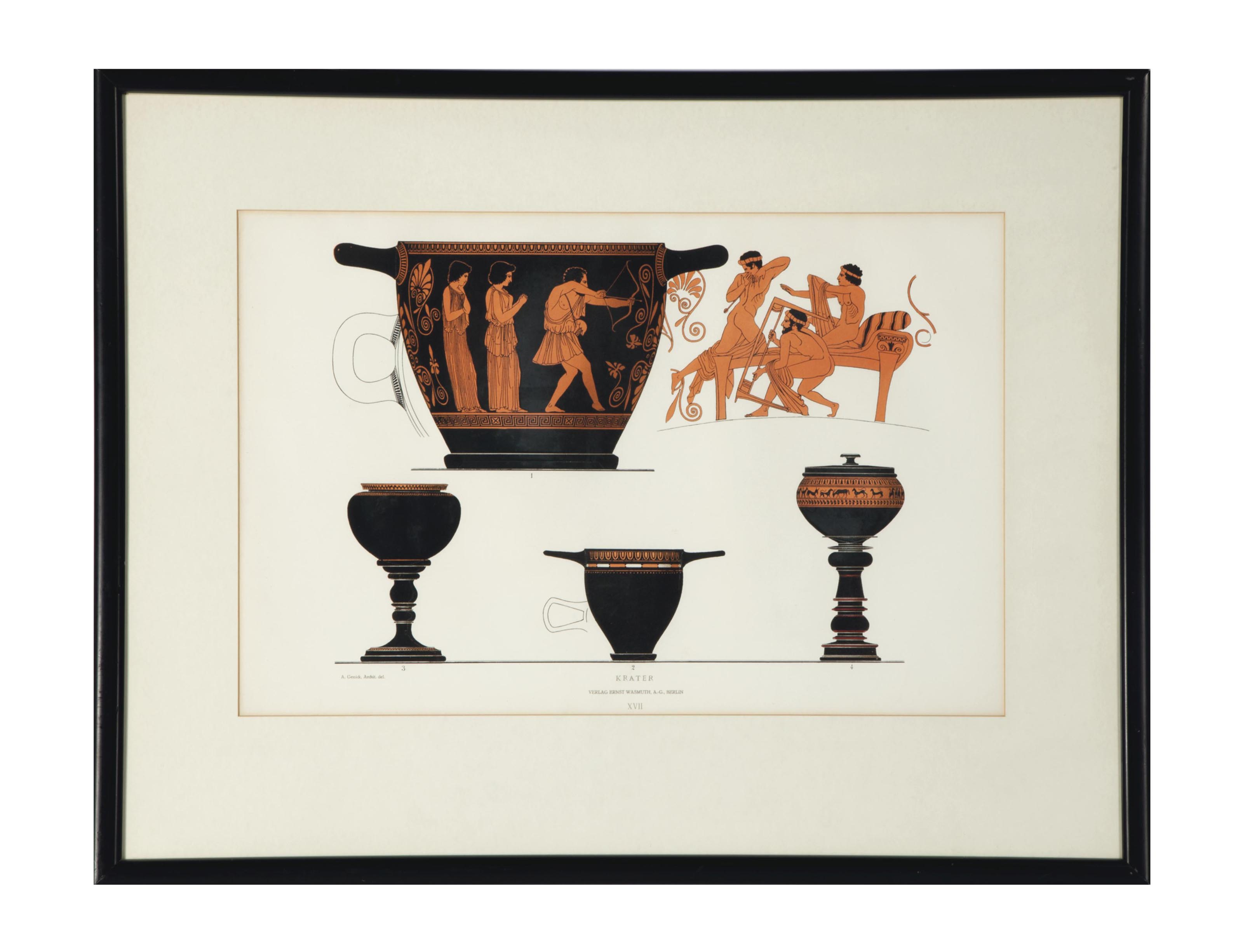 After A. Genick (19th Century) | [Greek Vases]: Three Plates ...