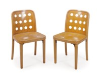 A SET OF FOUR AUSTRIAN ELM SIDE CHAIRS,