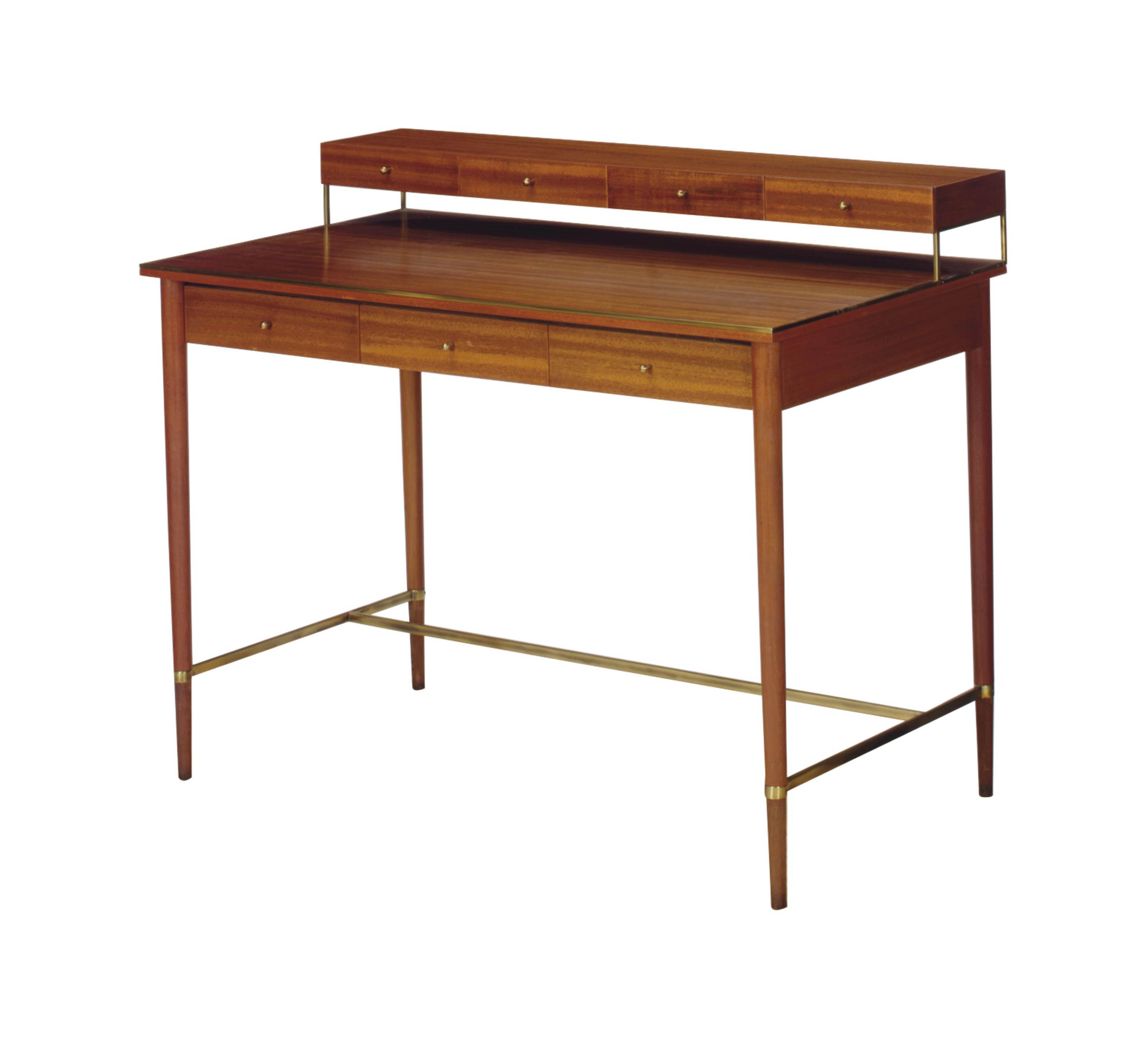 A GILT-METAL-MOUNTED MAHOGANY DESK,