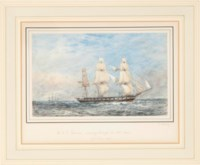 H.M.S Galatea running through the NE Trades; and a companion work
