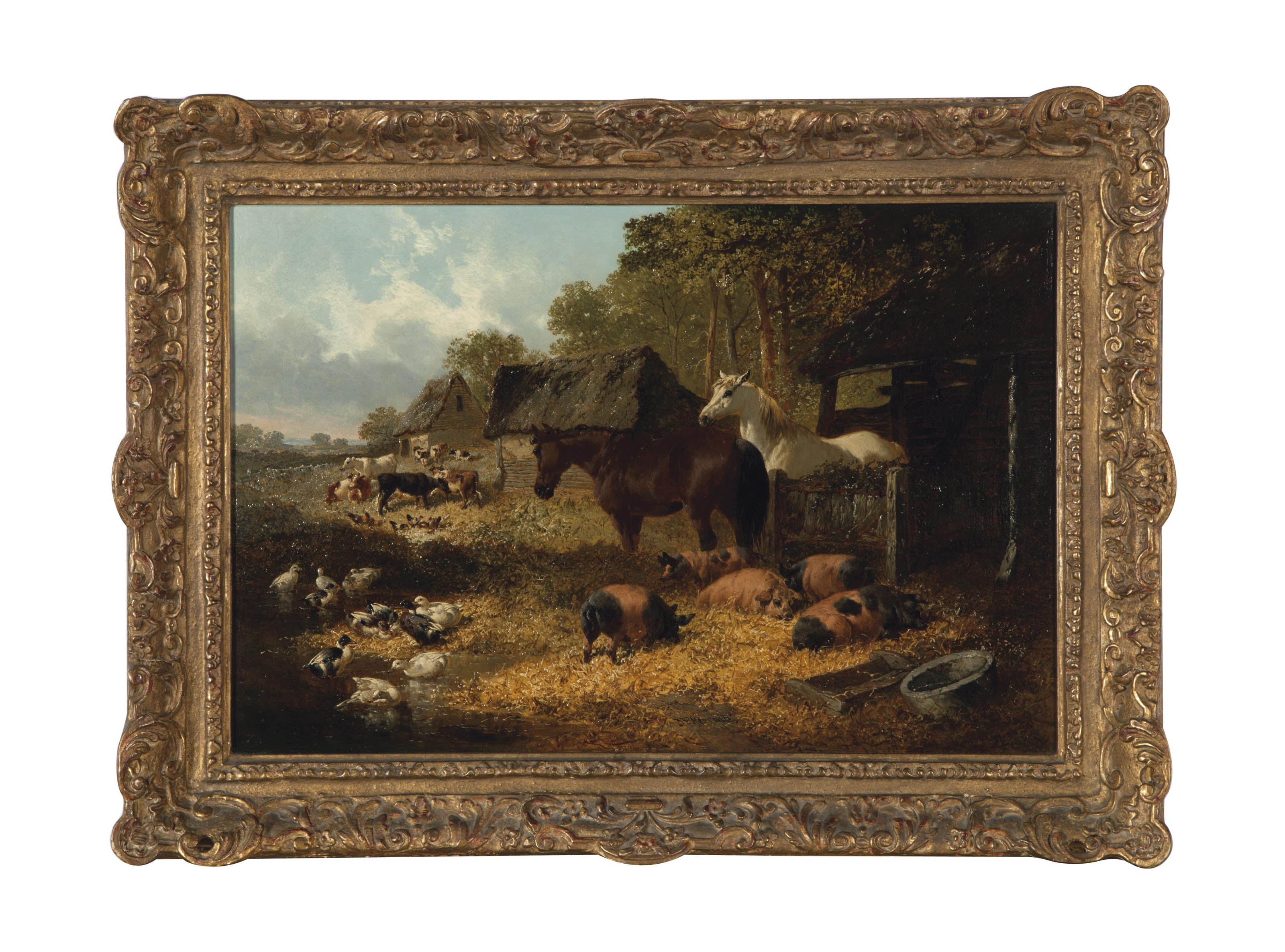 A farmyard menagerie; and a companion painting