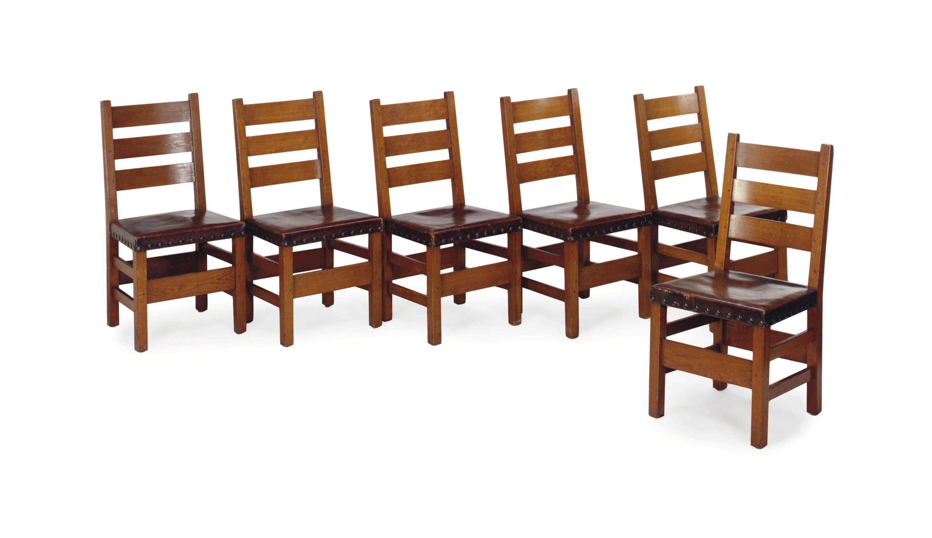 Pleasant A Set Of Six Oak Dining Chairs J G Stickley Circa 1907 Caraccident5 Cool Chair Designs And Ideas Caraccident5Info