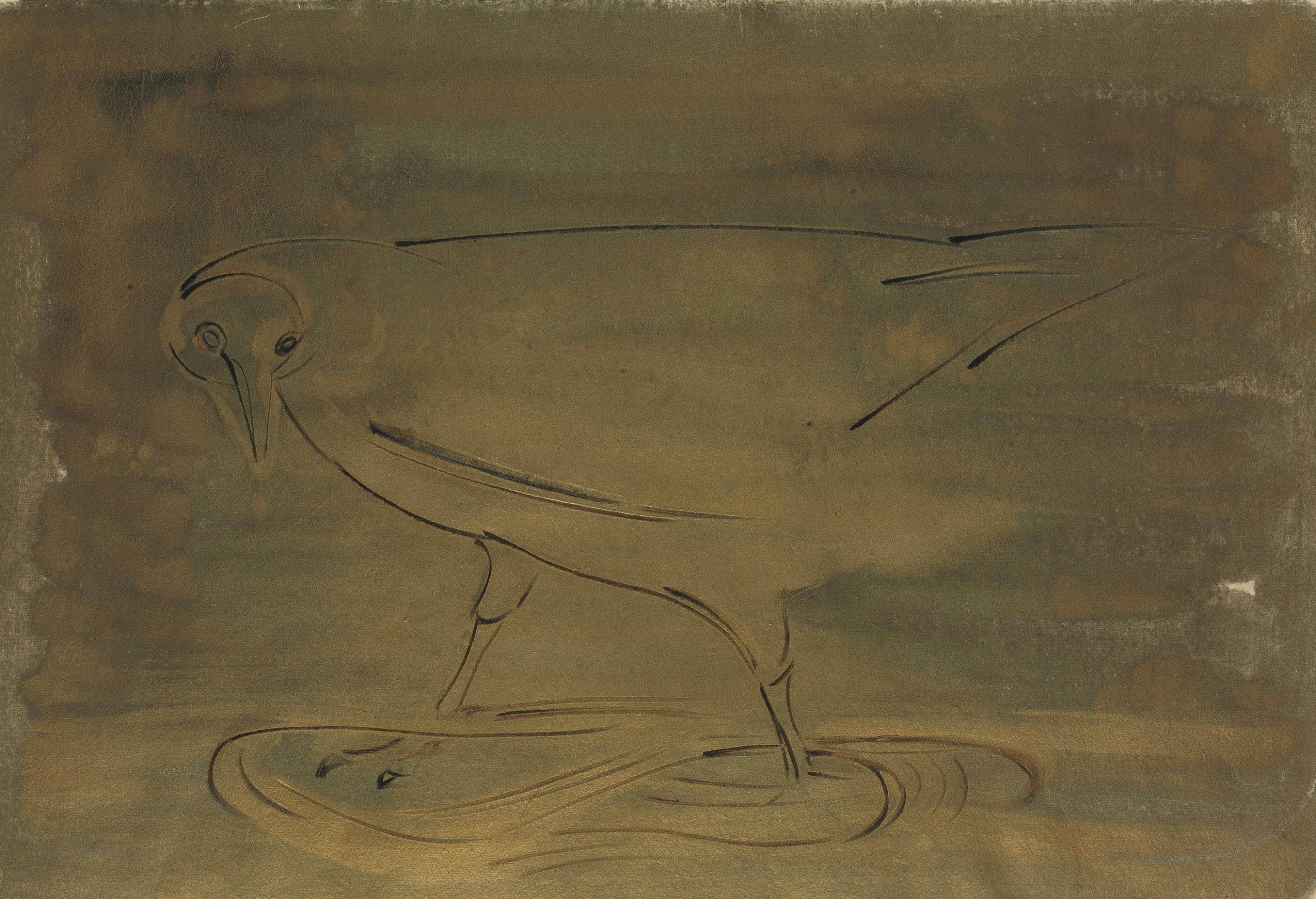 Bird Standing in the Golden Stream
