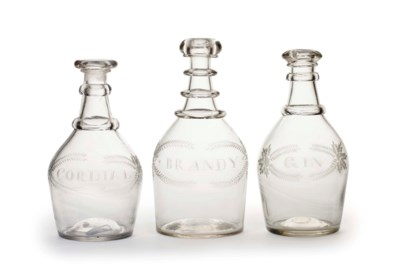 A GROUP OF THREE BLOWN GLASS D