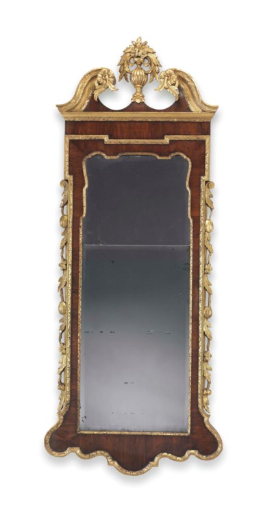 A CHIPPENDALE PARCEL-GILT AND