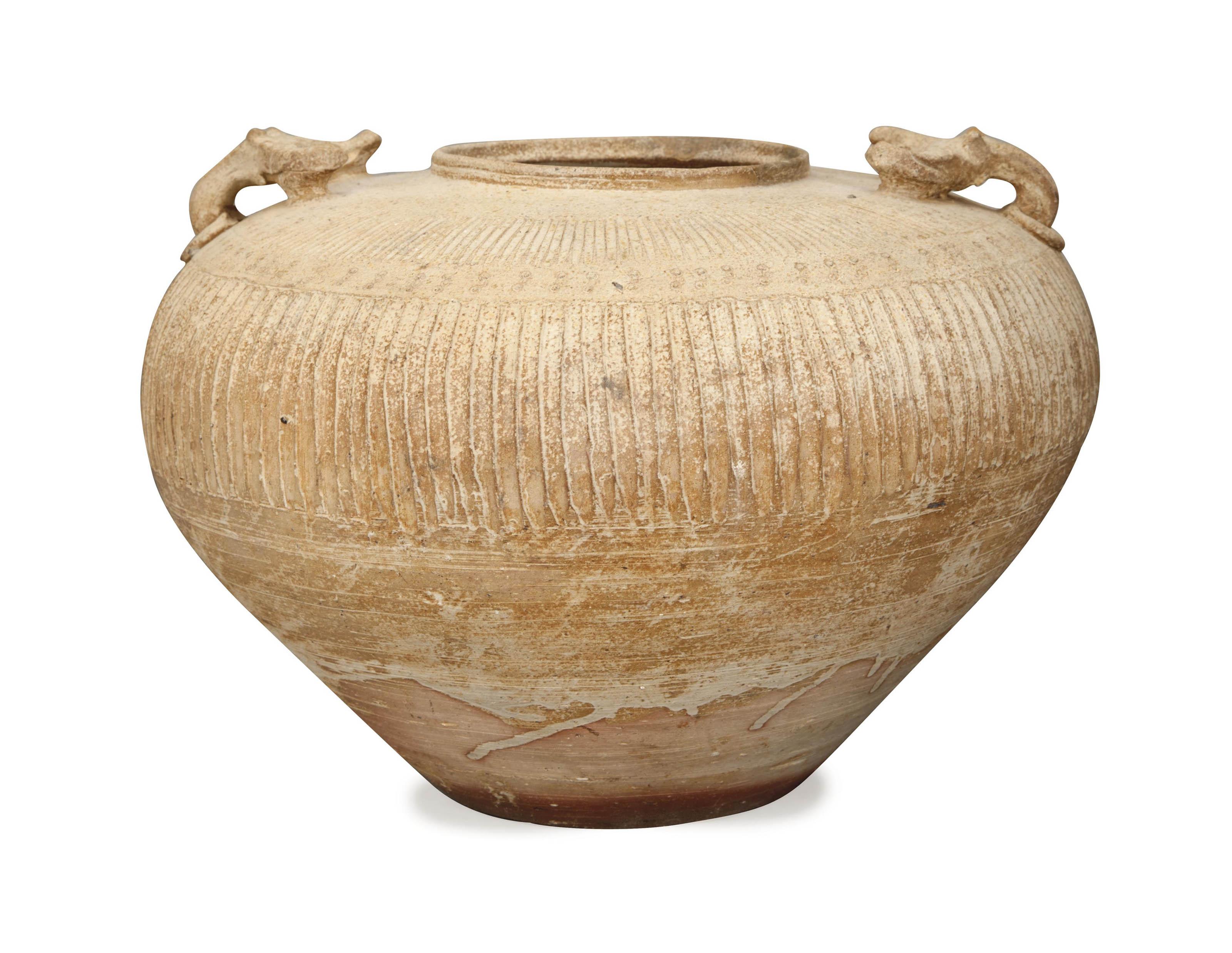 A CHINESE 'PROTO-PORCELAIN' JAR,