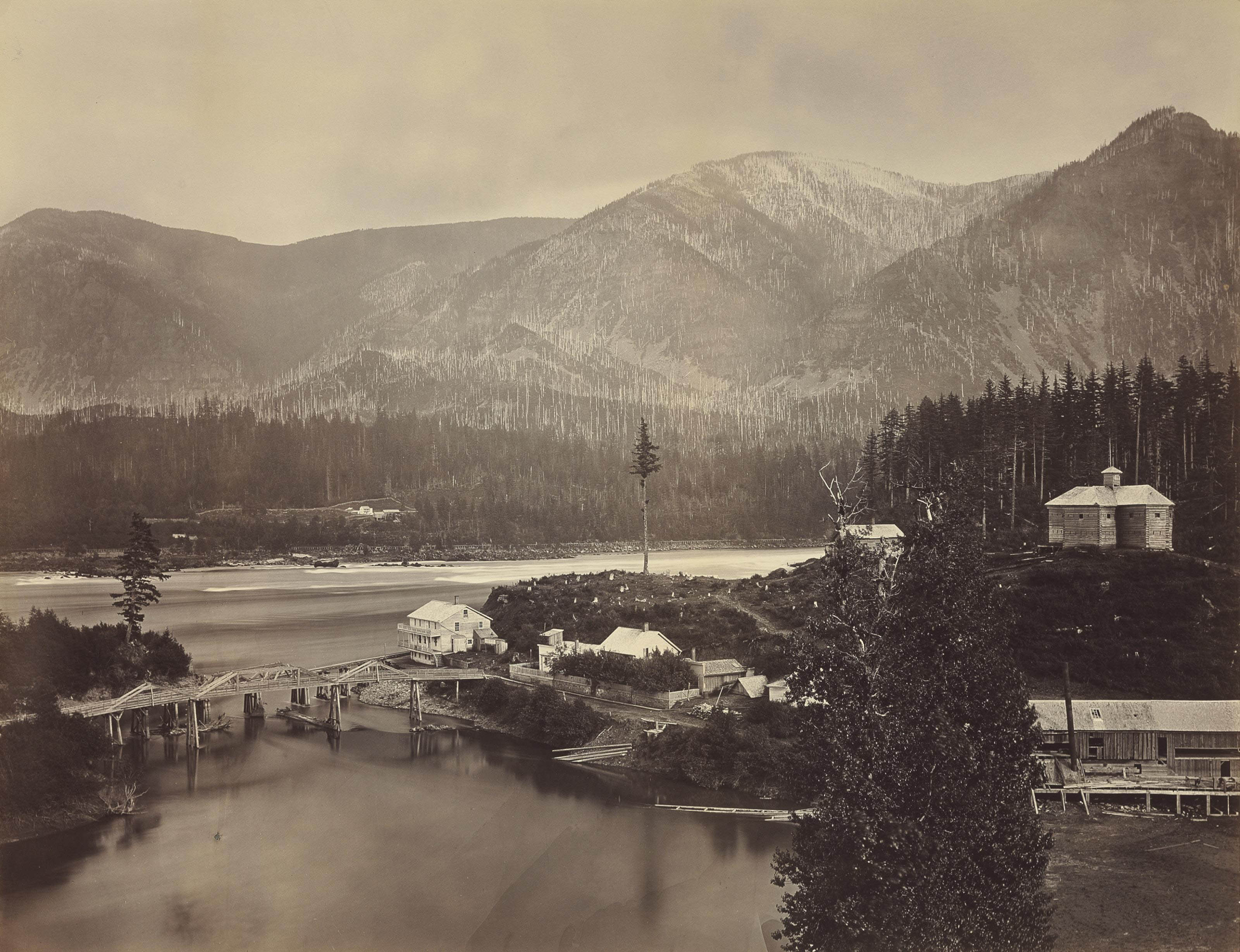The Columbia River Gorge, 1867