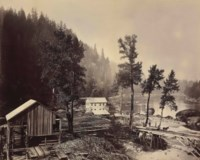 Eagle Creek Sawmill, Cascades of the Columbia, 1867