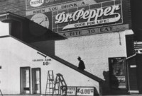 Negro Man Climbing the Stairs to the Movie Theater, Belzoni, Miss., 1939