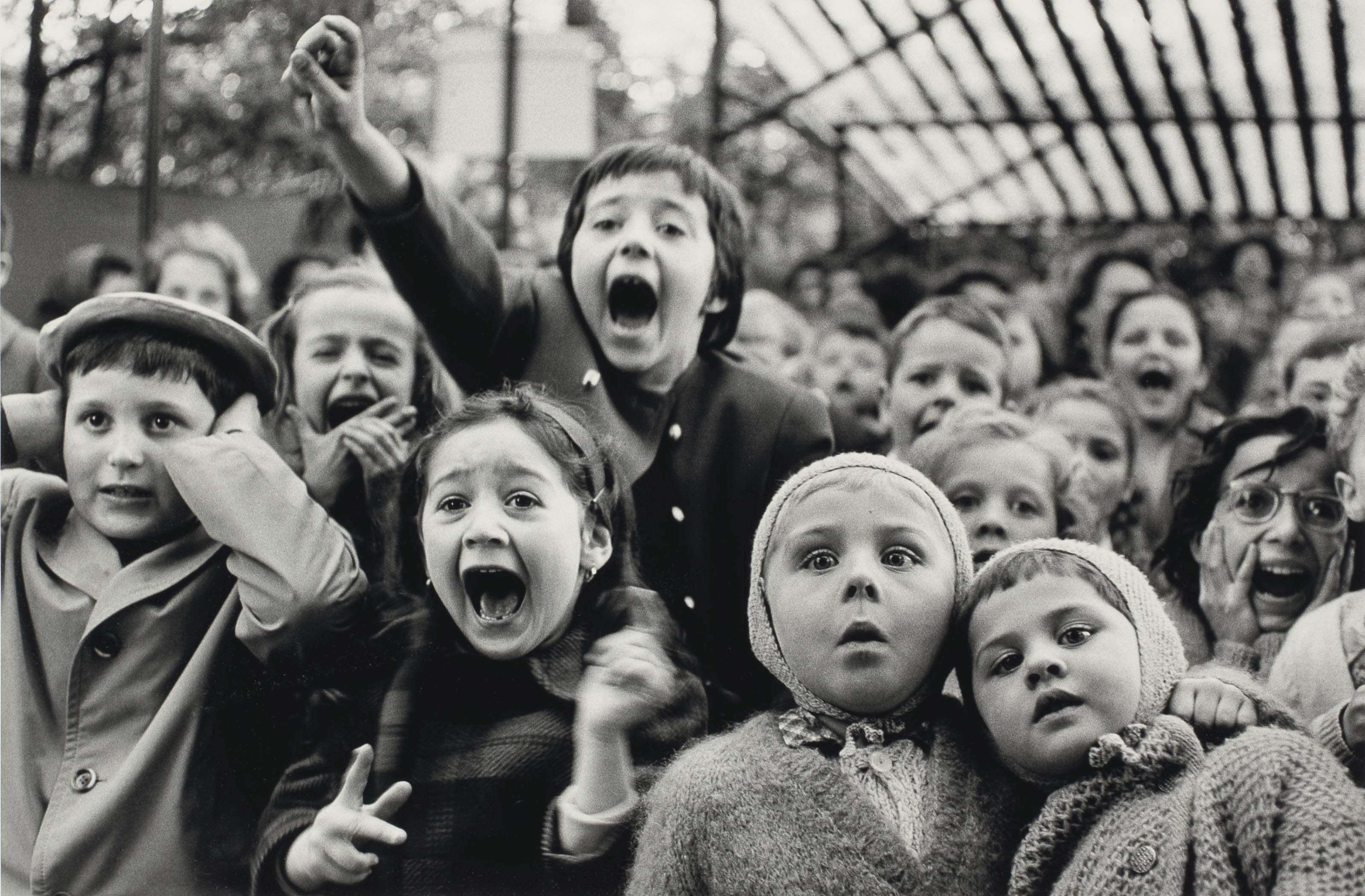 Children at a Puppet Theatre, Paris, 1933