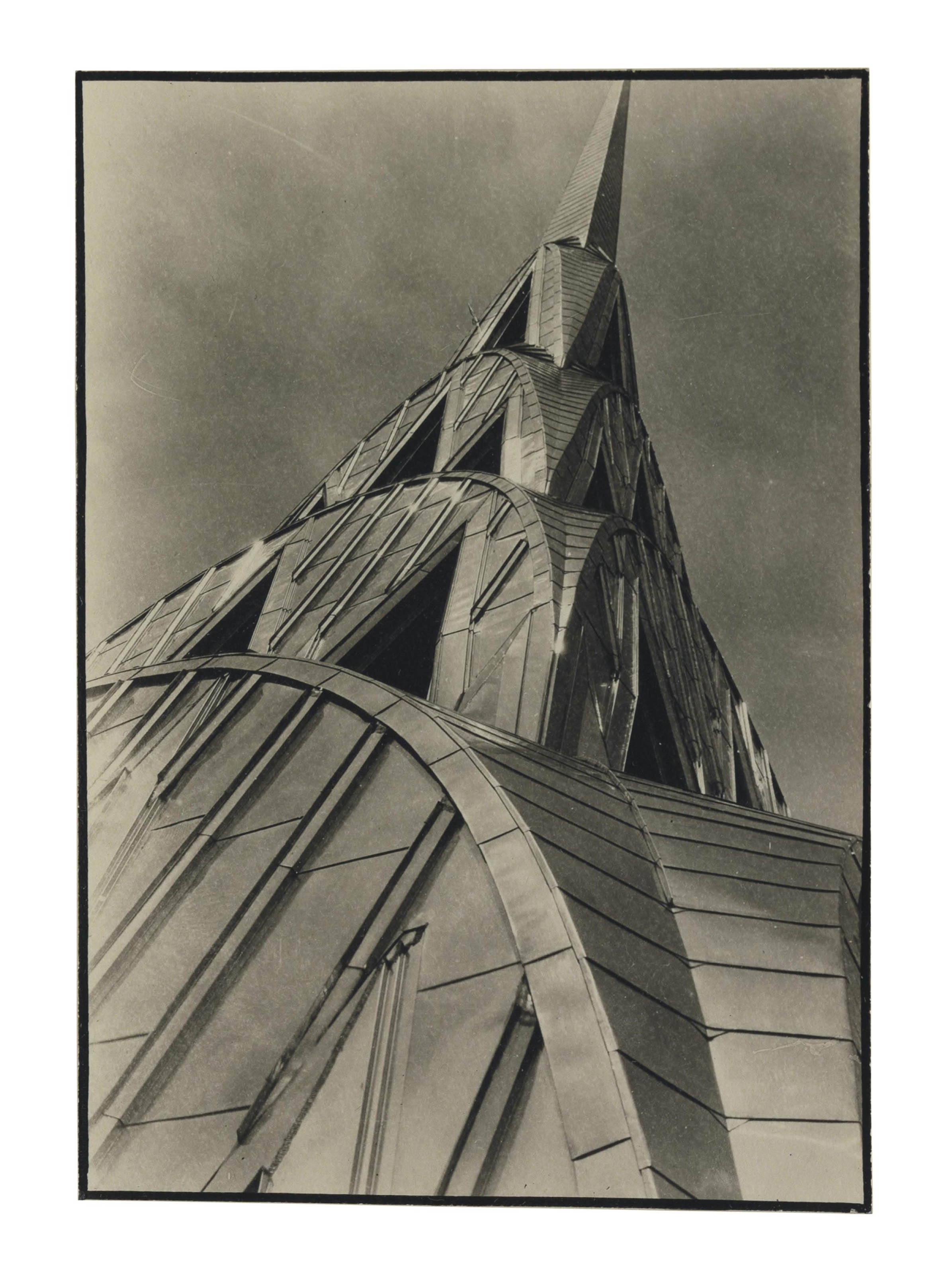 Chrysler Building, New York, exhibition announcement, 1930