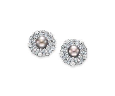 A PAIR OF DIAMOND AND NATURAL