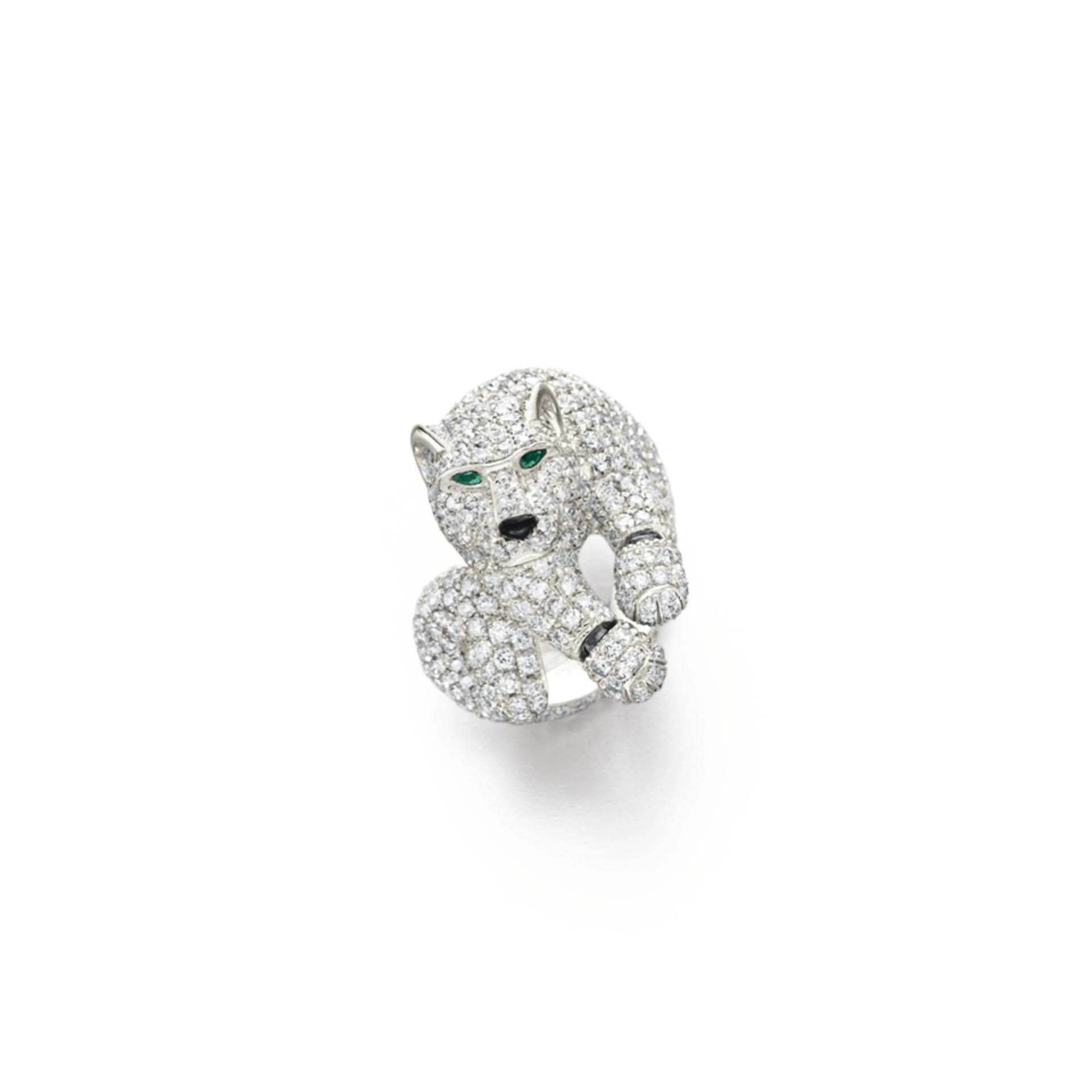 A Diamond And Emerald Quot Panther Quot Ring By Cartier Christie S