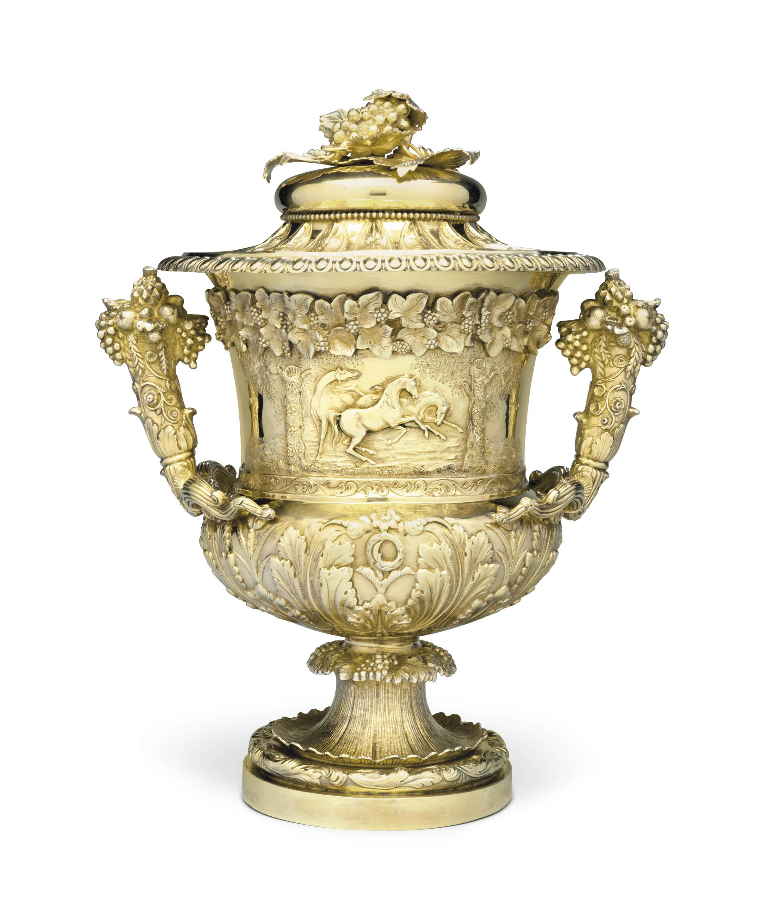 A GEORGE IV SILVER-GILT TROPHY CUP AND COVER
