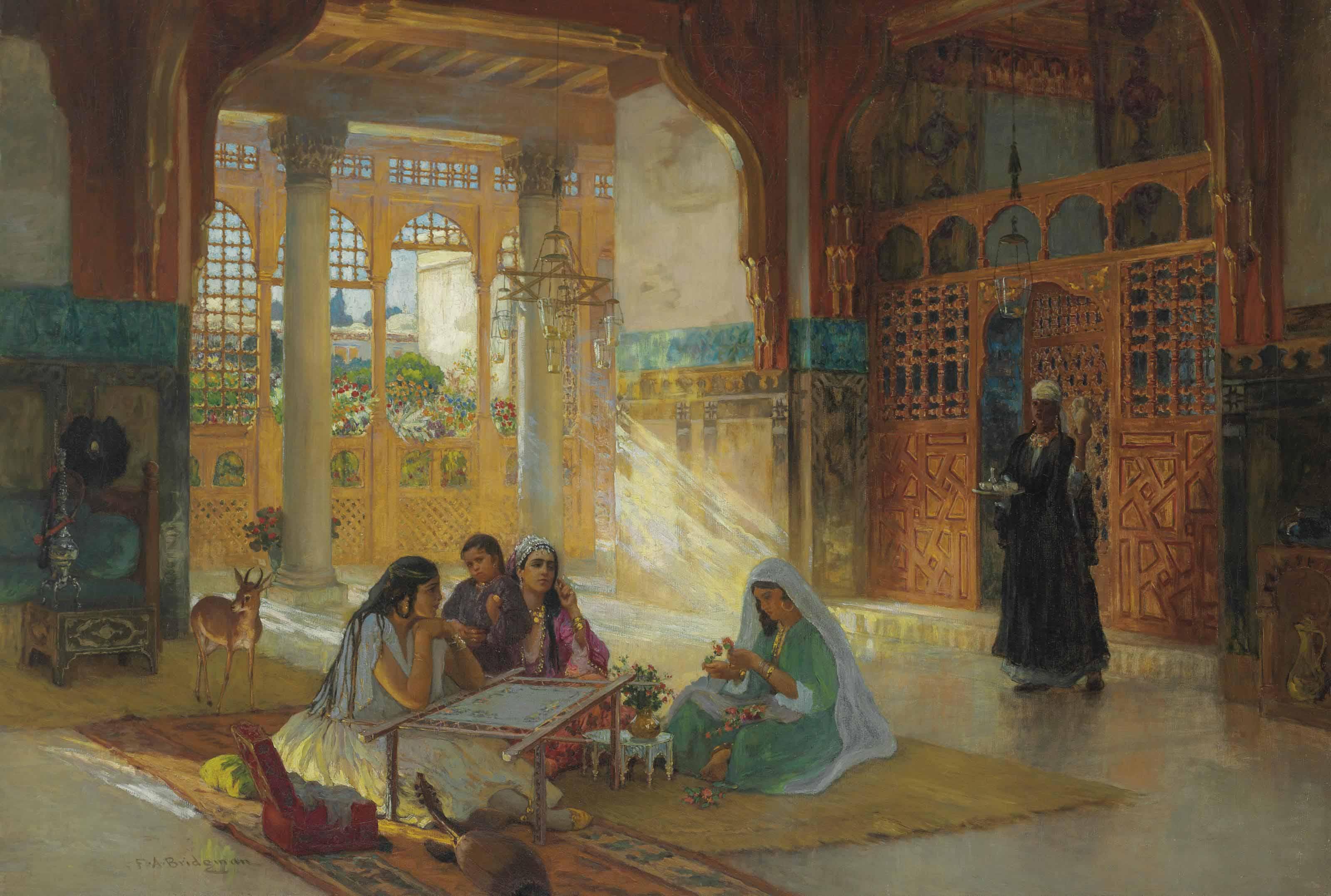 Interieur d'un palais Arabe