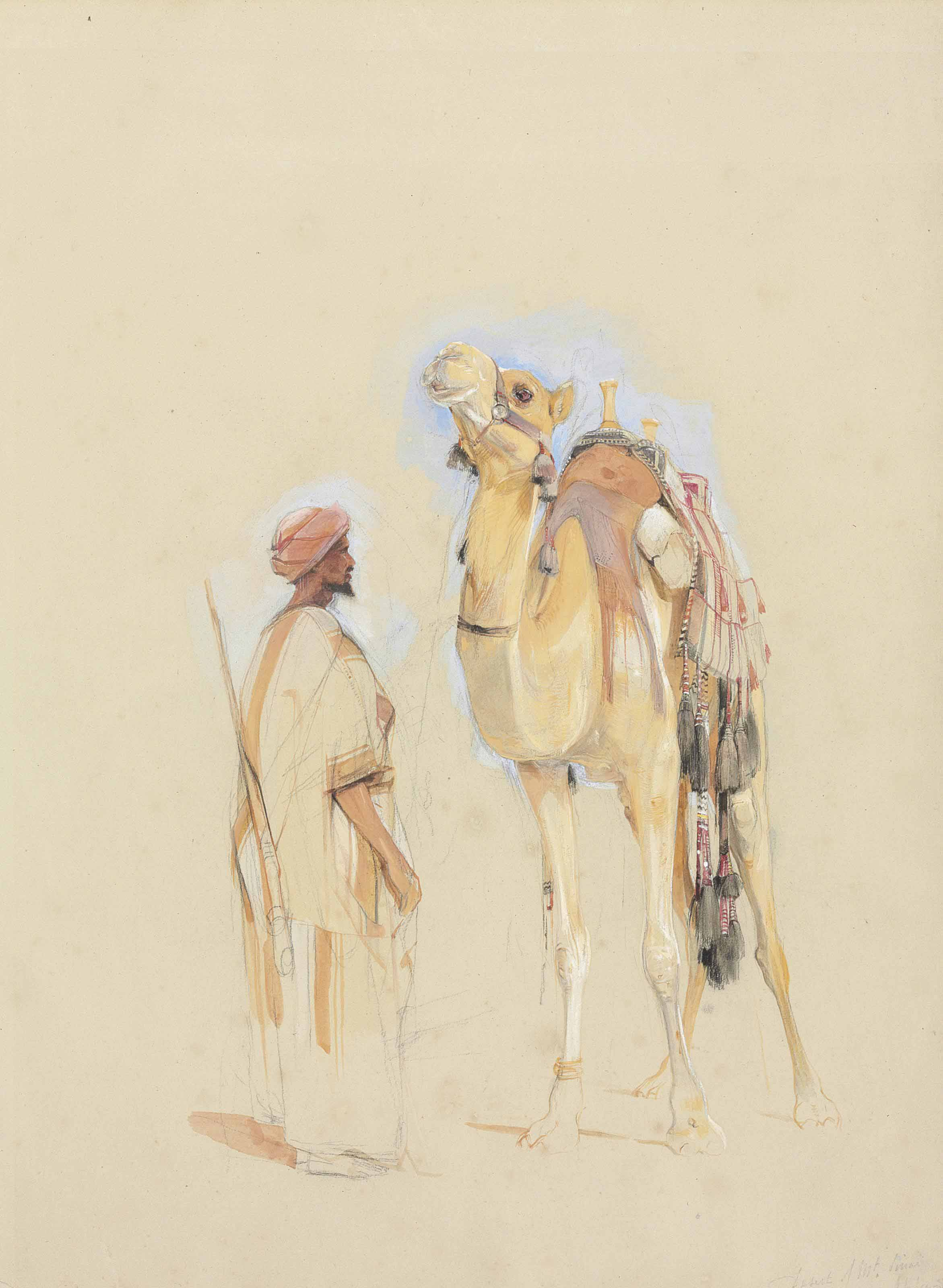 Bedouin Camel Driver and Camel, Sinai