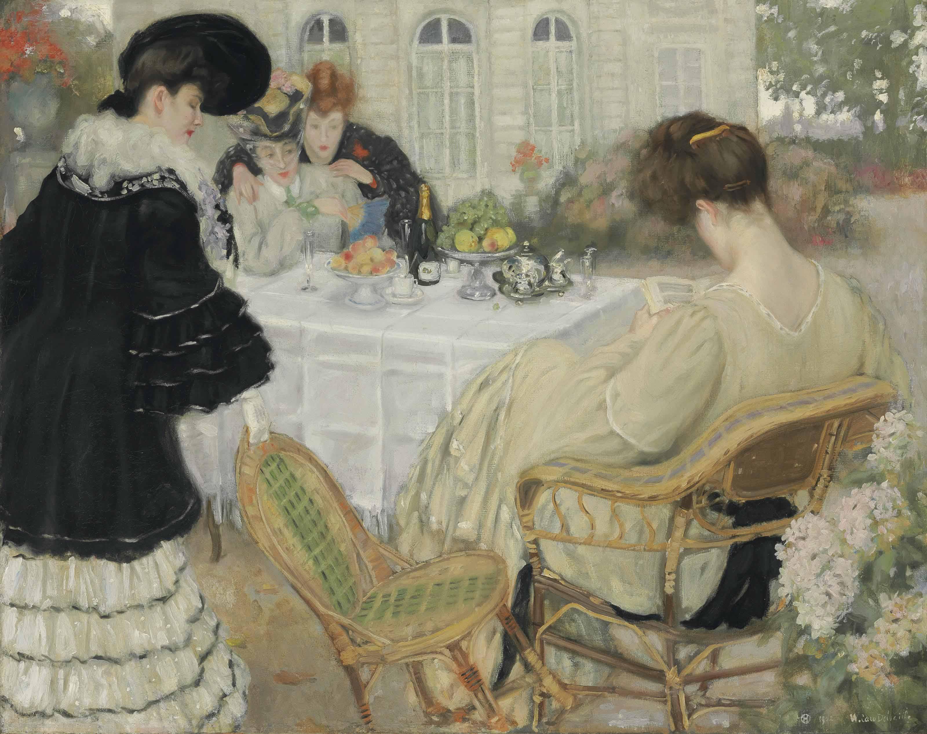 Ladies taking Tea