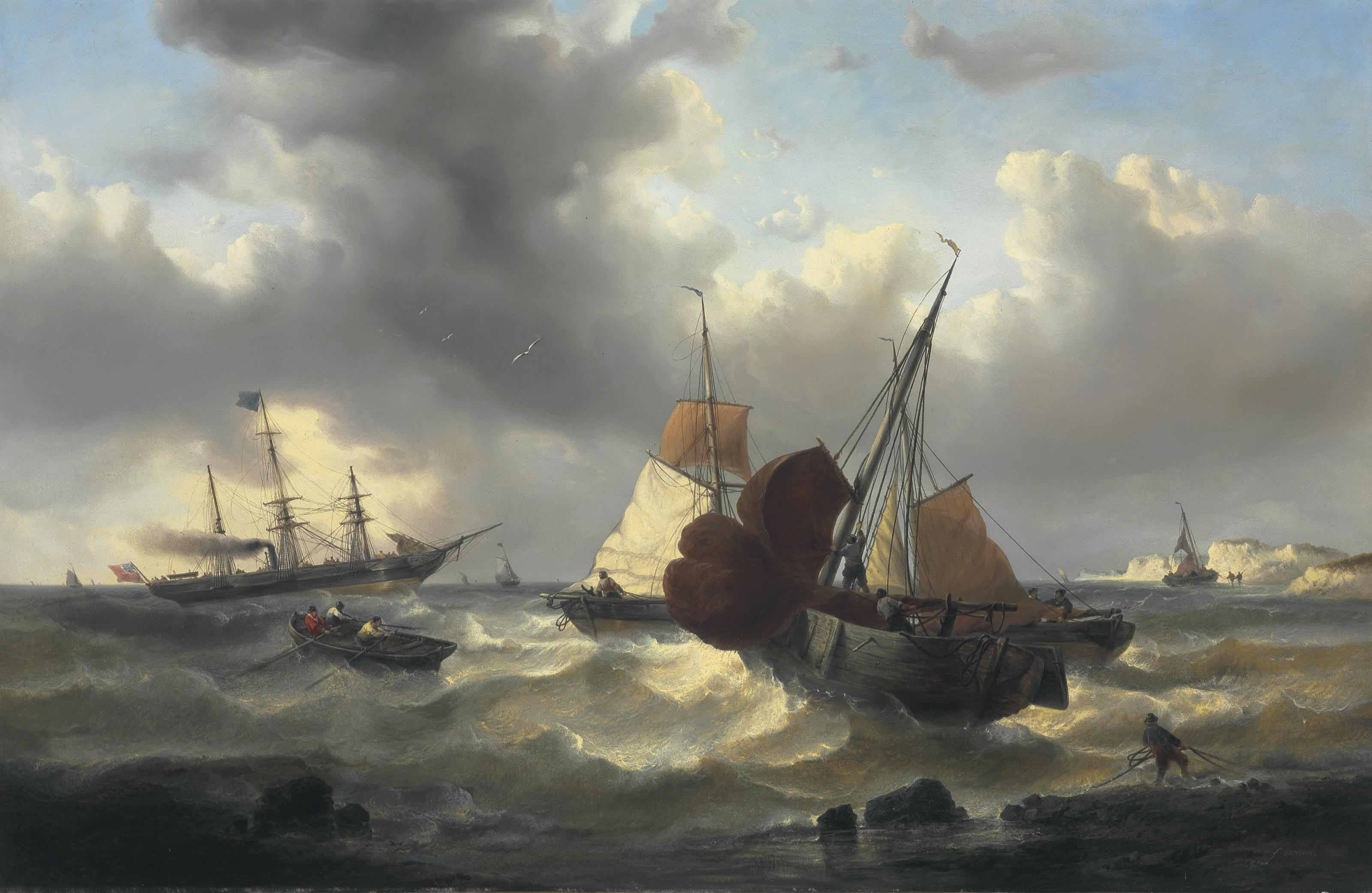 Shipping off the Coast in Choppy Seas