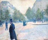La Place Saint-Augustin, temps brumeux