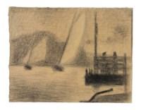 Régates (Deux bateaux à voiles)