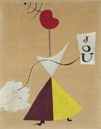 Peinture (Femme, Journal, Chien)